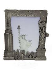 "1 NEW NYC PICTURE FRAME 4""X6"" METAL PHOTO FRAME NEW YORK CITY SKYLINE MK001"