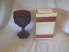 4 Vintage Avon Cape Cod Ruby Red Water Goblets-Unused in Box-Great for Wine Too!