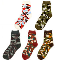 1 Pair Men's Cotton Crew Socks Camo Camouflage Colorful Casual Sport Ankle Socks