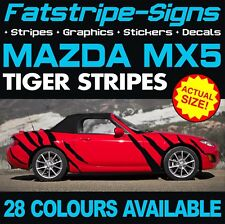 MAZDA MX5 TIGER STRIPES GRAPHICS DECALS STICKERS EUNOS ROADSTER 1.6 1.8 MX-5