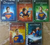 Superman -Superman 2 -Superman 3 -Superman 4 - Superman Returns (5 DVD) ITALIANO