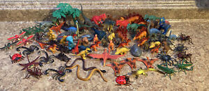 Mixed Lot of Plastic Rubber Dinosaur/Insect Figures All Sizes
