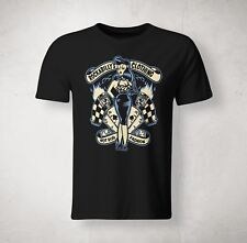 Pin Up Hot Road Rockabilly Fashion Men T-shirt Size S - 5XL