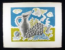 Jean Picart le Doux (1902-1982) Lithographie vigne vin Bordeaux bourgogne Alsace