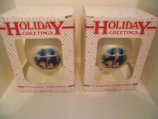 2 Holiday Greetings 2004 Festival Of Trees Christmas Ornaments