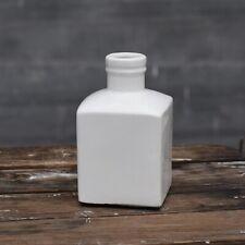 """White Square Modern Chic Bottle 6"""" Vase"""