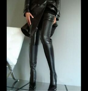 41 Over knee thigh boots pointed toe stilettos Crotch boots, New 32 inch high