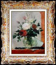Dietz Edzard Oil PAINTING On Canvas Hand Signed Original Floral Still Life Art