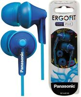 Panasonic RP-HJE125E-A BLUE Ergo Fit In-Ear Headphone Powerful sound /Brand New