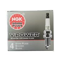 BOX OF 4 V-POWER NGK SPARK PLUGS, ZFR5F-11, NEW IN BOX 2262