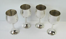 Vintage Stokes Silverplate Set of 4 Small Liqueur/Cherry Cup/Goblet, Portugal