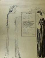 1922 Voll Größe William Blake Großer Druck Thomas Grautöne Gedicht Ode Für
