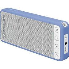 Sangean Portable Stereo Bluetooth Speaker in White / Blue BTS101WB