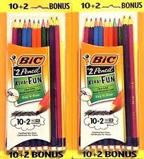 Pencils, BIC Xtra Fun #2 Pencils, 24ct Lot ~School & Office Supplies~