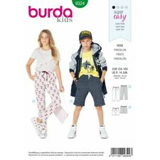 Burda Style Kid's Elasticated Waist Trousers Sewing Pattern 9324-Super Easy