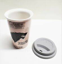 """Game of Thrones  """"Winter is Coming"""" Ceramic Travel Coffee Mug New"""