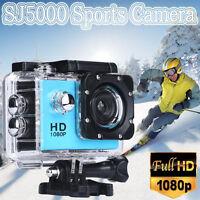 "SJ5000 Sports Action DV Camera Camcorder 2"" HD 1080P Waterproof Helmet Cam UK"