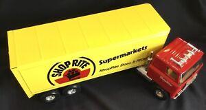 Super Clean Vintage Large ERTL Shop Rite Supermarkets Tractor Trailer Truck Toy