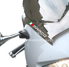 4 Nomi adesivi con bandiera per cupolino moto - tuning decal stickers