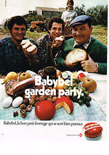 PUBLICITE ADVERTISING 044   1972  BABYBEL fromage  GARDEN PARTY