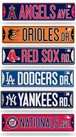 "MLB Baseball Bling Street Sign 3.75"" x 16"" (Glitter) Pick Team"