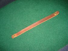 """Brown leather bracelet / wristband 8"""" x 1/2""""  soft quality leather med brown"""