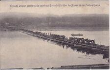 uralte AK, Deutsche Truppen passieren die neuerbaute Pontonbrücke, Feldpost