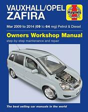 HAYNES VAUXHALL/OPEL Zafira Manual Vehicle Repair Handbook (2009 - 2014)
