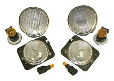 FITS 2007-2013 JEEP WRANGLER JK CLEAR FRONT PARKING AND SIDE MARKER LIGHT KIT