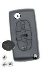 Fits Peugeot Partner 3 Button KEY REMOTE CASE Repair Fix Kit blade VA2 CE0536