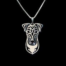 ❤️ Halskette mit Anhänger Foxterrier, Fox Terrier Hunde Kopf pendant, necklace