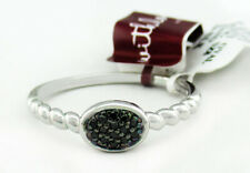 GENUINE BLACK DIAMONDS RING .925 Sterling Silver * NEW WITH TAG * Size 8