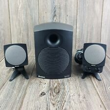 Boston Digital BA745 Computer Speakers With Sub & Genuine Power Adapter TESTED