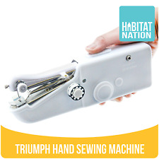 Triumph Compact Portable Cordless Hand-Held Clothes Fabrics Sewing Machine