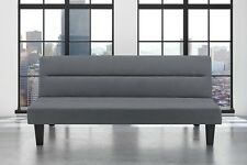 Futon Sofa Bed Charcoal Microfiber Couch Folding Upholstered Sleeper