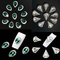 10pcs 3D Nail Art Rhinestone Crystal Glitter Alloy Charm Nail Tips Decoration