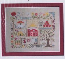 Sampler Ete (summer) - patchwork style cross stitch chart - Jardin Prive