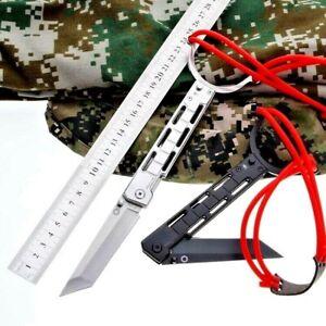 Tanto Folding Knife Pocket Hunting Survival Tactical Slingshot High Carbon Steel