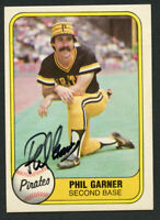 Phil Garner #364 signed autograph auto 1981 Fleer Baseball Trading Card