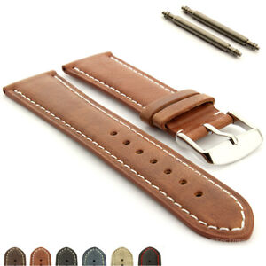 Two-piece Genuine Leather Watch Strap Band 18 19 20 21 22 24 Twister MM