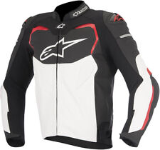 ALPINESTARS GP PRO STREET ARMORED BLACK/WHITE/RED LEATHER JACKET S SMALL