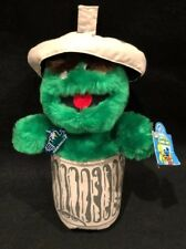"Sesame Street Oscar the Grouch 12"" Plush NWT Vintage Applause Henson Muppet"