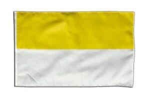 Streifen gelb-weiß Banner gelbe Fahnen Flaggen 30x45cm