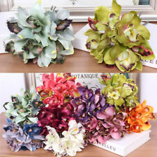 CW_ 1 Bouquet 7-Head Artificial Flower Orchid Home Hotel Wedding Bridal Table Ap