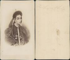 Impératrice de Chine Vintage albumen cdv print.D'après dessin Tirage