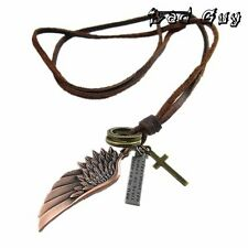 Angel Wing - cool authentic DIESEL leather alloy unisex necklace sale $27.77