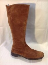Footglove Brown Mid Calf Suede Boots Size 3.5
