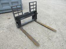 48 Walk Thru Pallet Fork Withstep Skid Steer Loader Attachment Bobcat Gehl Kubota