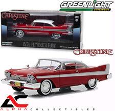 "BOX GREENLIGHT 84071 1:24 1958 PLYMOUTH FURY RED ""CHRISTINE"""