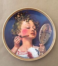Norman Rockwell Knowles Making Believe At The Mirror Rediscovered Women Plate